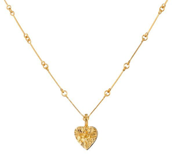 Lapponia Lapponia Heart hanger 14kt geelgoud incl. gouden collier