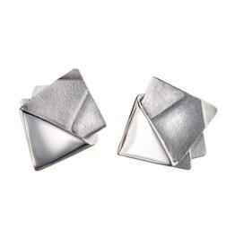 Lapponia Lapponia Origami 84 zilveren oorstekers