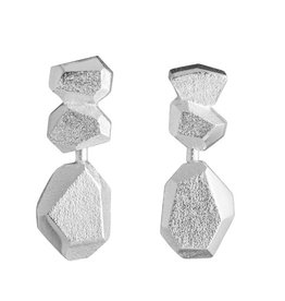Lapponia Lapponia Frozen Amethyst zilveren oorstekers