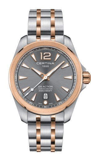 Certina Certina DS Action Chronometer PVD, 41mm edelstalen kast met edelstalen band en pvd coating
