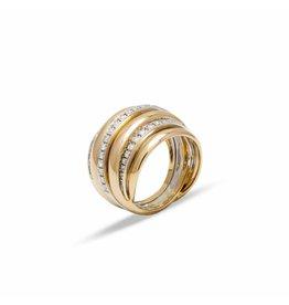 Leo Pizzo 18 krt. gouden crossover ring