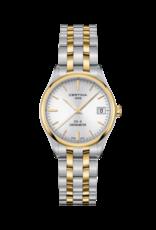 Certina Certina DS-8 quartz Chronometer met edelstalen bicolor band en kast