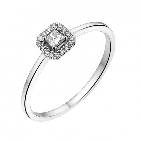 Private Label CvdK Private Label CvdK  gouden halo ring diamanten