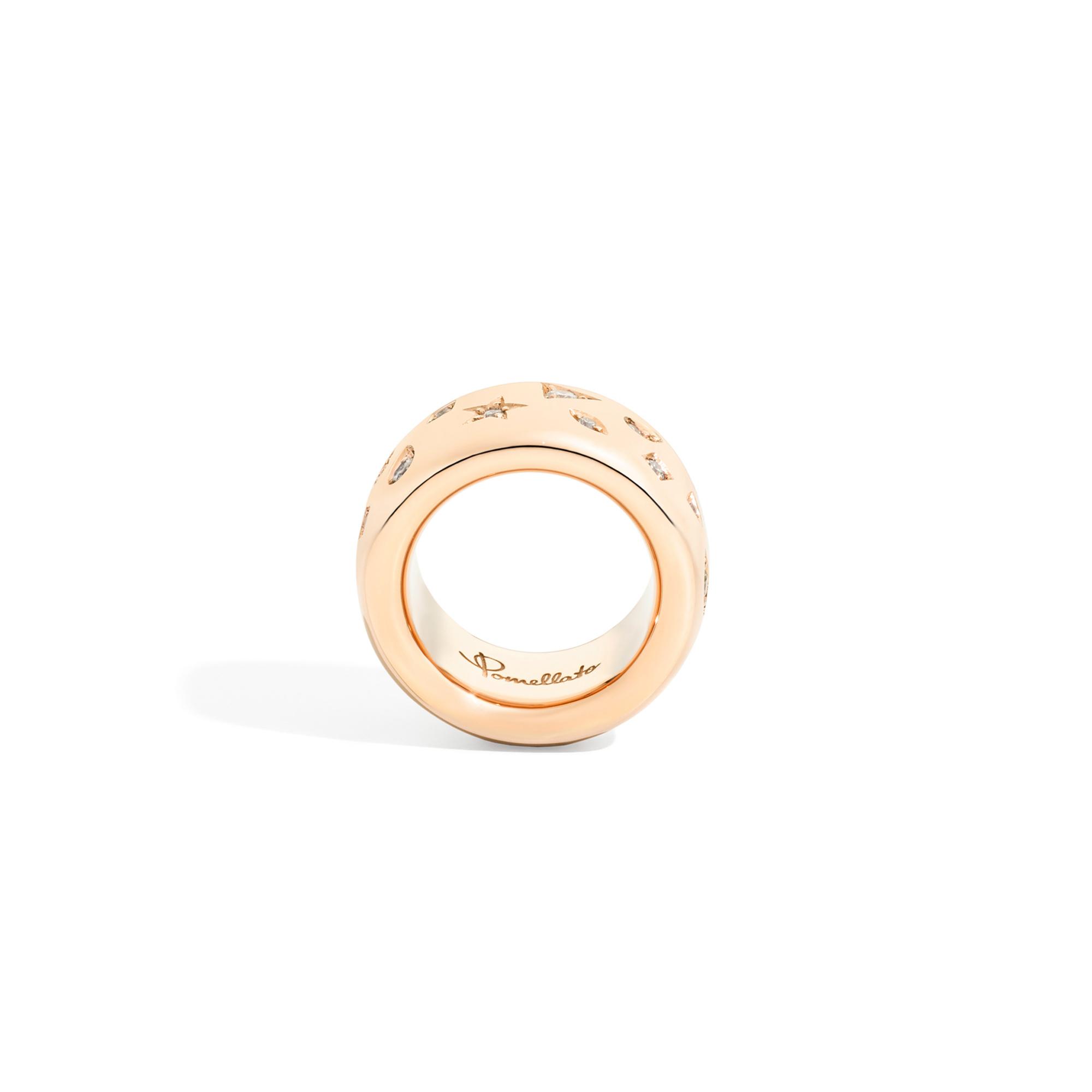 Pomellato Pomellato Iconica ring in 18 krt. roségoud met witte diamanten