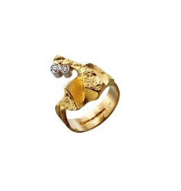 Lapponia Lapponia Diamond Twig Ring 14kt. geelgoud