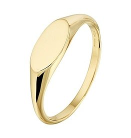 Private Label CvdK 14kt geelgouden monogram ring