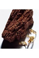 Lapponia Lapponia Diamond Well 14kt  geelgouden ring met platina en diamant