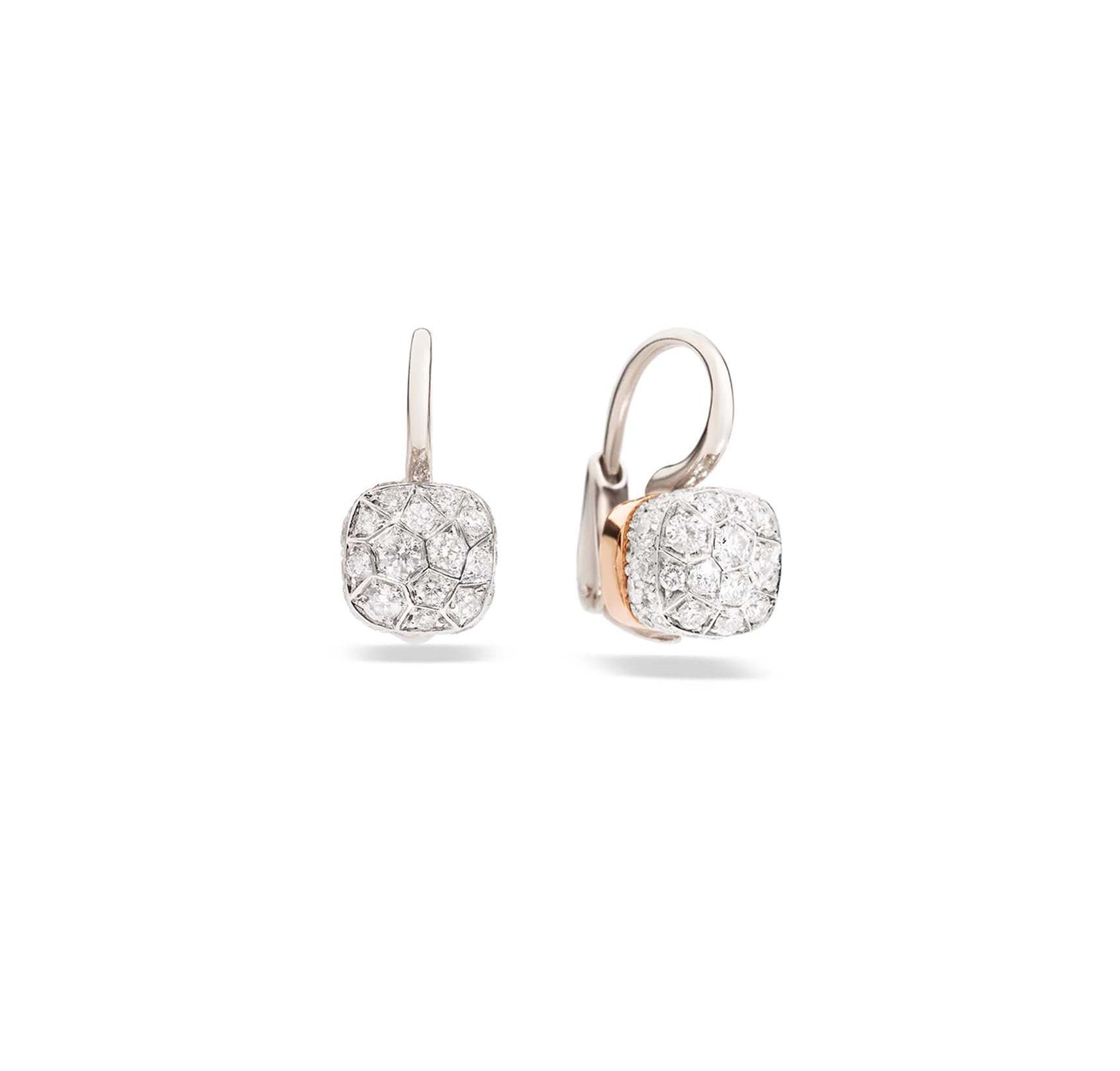 Pomellato Nudo Petit oorhangers 18kt. roségoud met diamant