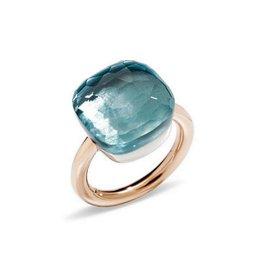 Pomellato Pomellato Nudo Assoluto ring blauwe topaas