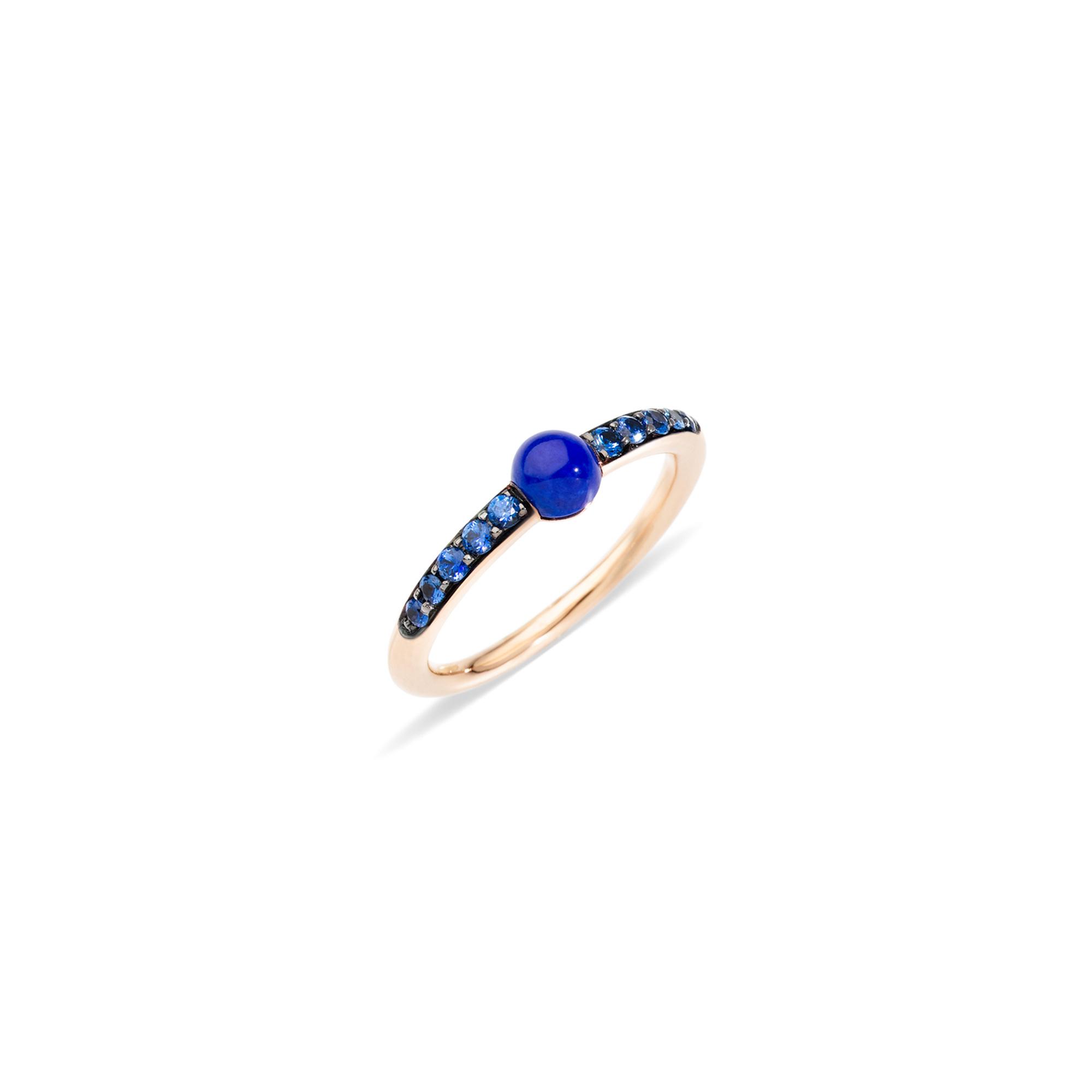 Pomellato Pomellato 18 kt. roségouden M'ama Non M'ama ring met Lapis lazuli en saffier 0.20 ct.
