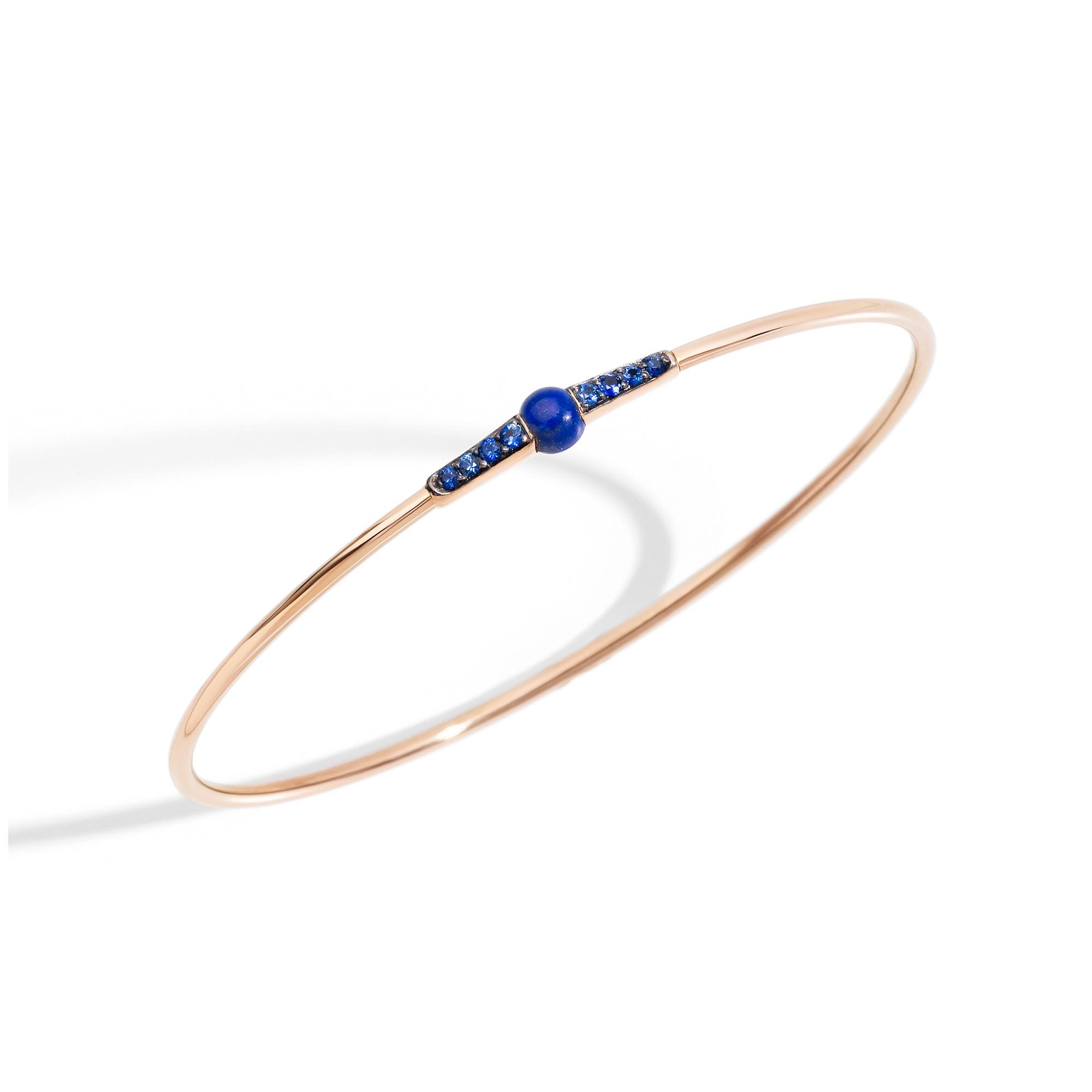 Pomellato Pomellato 18 kt. roségouden  M'ama Non M'ama armband met lapis lazuli en saffier