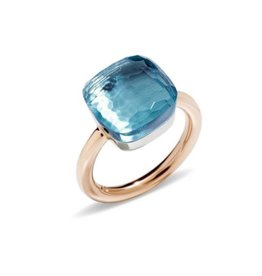 Pomellato Nudo Maxi ring met sky blue topaas