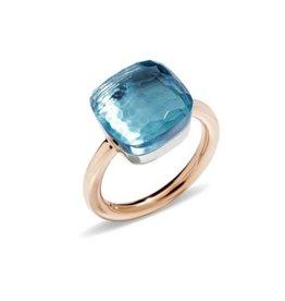 Pomellato Pomellato Nudo Maxi ring blauwe topaas