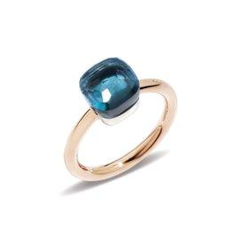 Pomellato Nudo Petit ring met London blue topaas