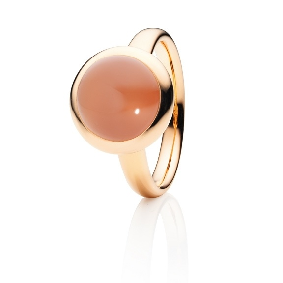 Capolavoro 18kt. roségouden ring met India Maansteen 4.50ct.