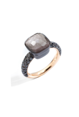 Pomellato Pomellato Nudo Classic ring Obsidiaan met zwarte diamant gezet in titanium