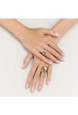 Pomellato Pomellato 18 kt. witgouden Nudo Maxi ring met prasioliet en diamant