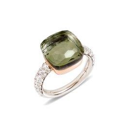 Pomellato Pomellato Nudo Maxi ring prasioliet en diamant
