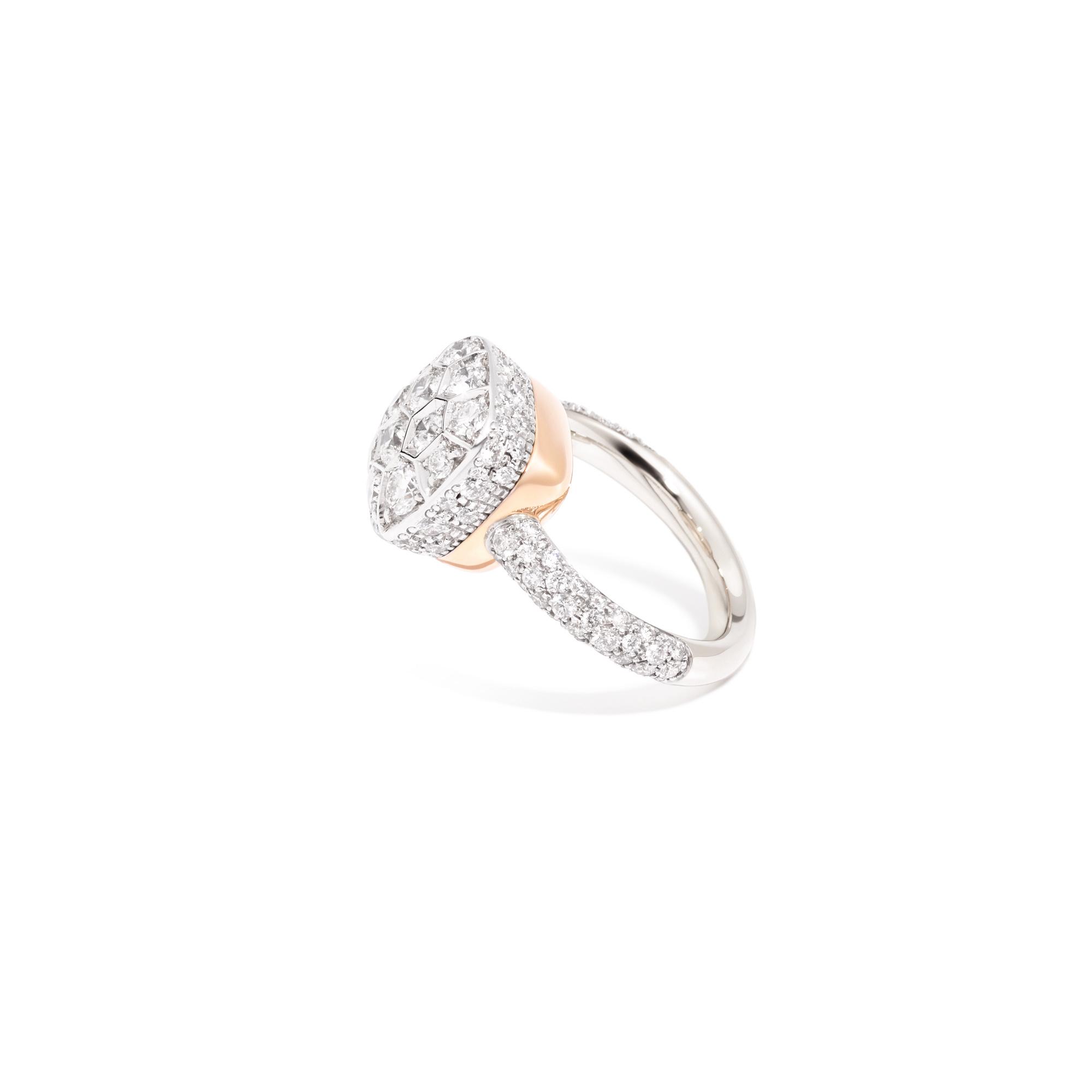 Pomellato Pomellato 18 kt. witgouden Nudo Maxi ring met diamant 2.18 ct.