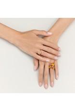 Pomellato Pomellato 18 kt. roségouden Nudo Maxi ring met cognac diamant 1.48 ct.