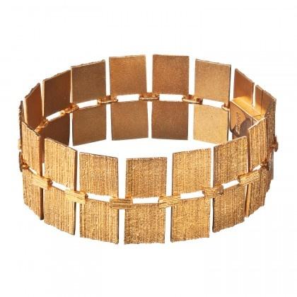 Lapponia Lapponia Quadro 18kt geelgouden armband