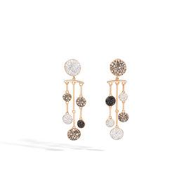 Pomellato Pomellato Sabbia oorhangers met 3 tinten diamant