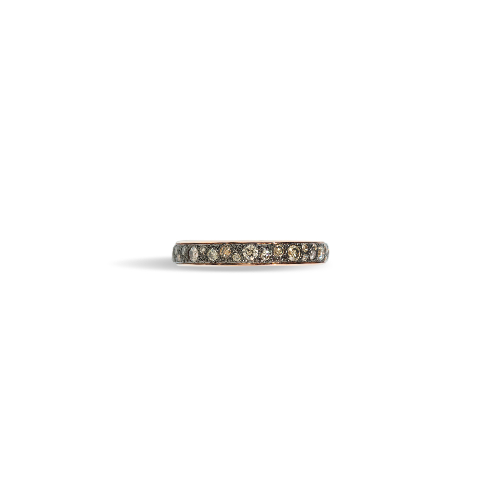 Pomellato Pomellato Iconica 18k Rosegouden Ring met cognac diamanten pavé gezet