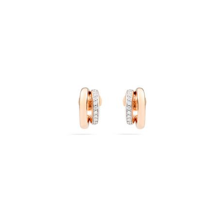 Pomellato Pomellato 18kt roségouden Iconica oorstekers met diamant 0,4ct. totaal