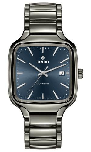 Rado Rado True Square Automatic 38mm keramieke kast en band met blauwe wijzerplaat