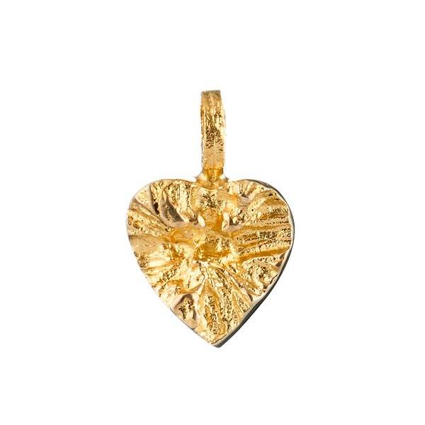 Lapponia Lapponia Heart hanger 14kt geelgoud excl. gouden collier