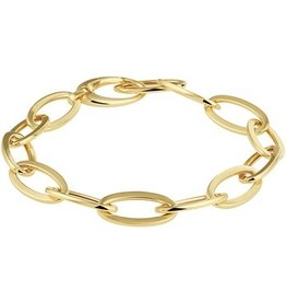 Private Label CvdK 14kt geelgouden fantasie armband met een ovale schakel