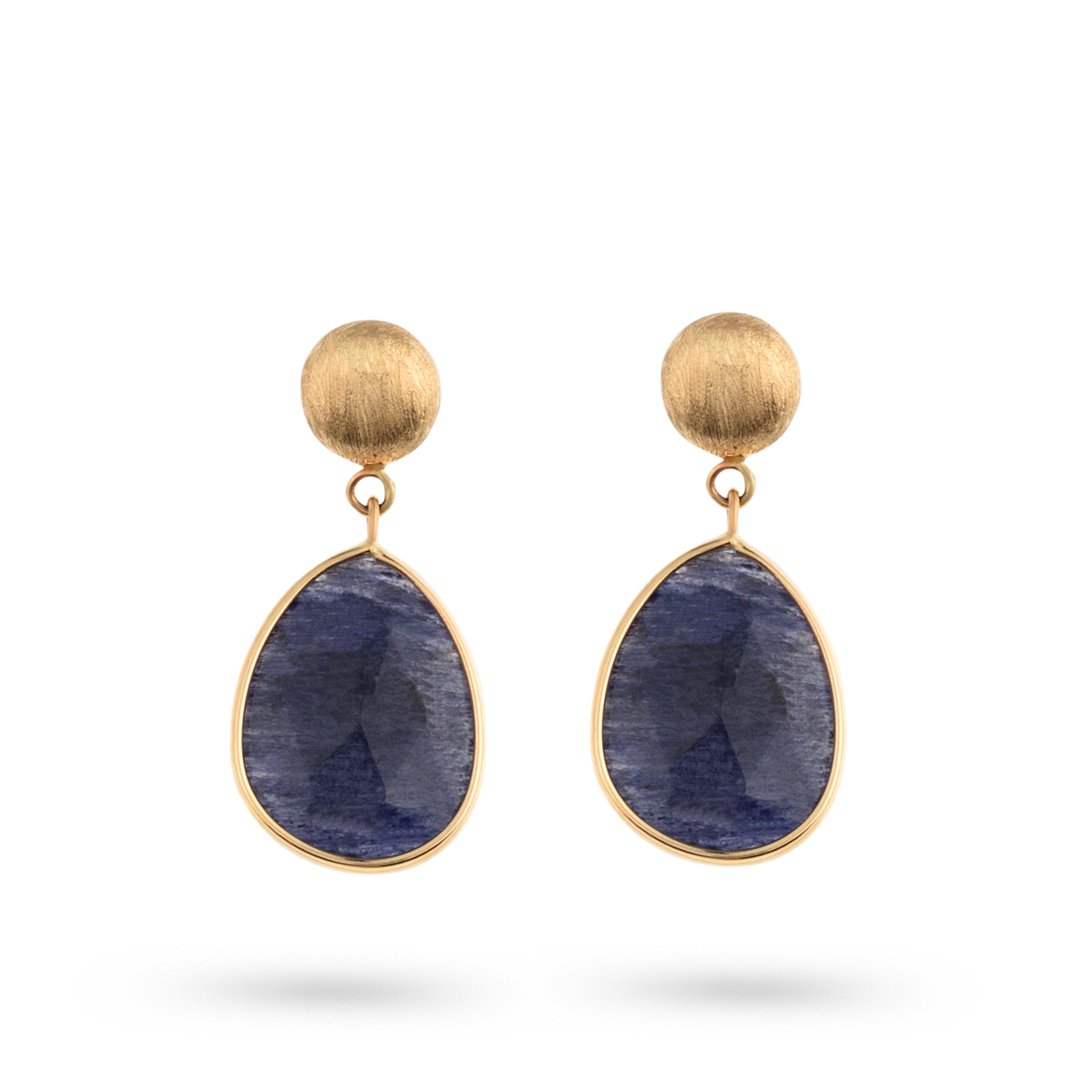 Italo Bottene Italo Bottene Tinta  oorhangers met blauwe quartz