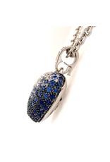 Leo Pizzo Leo Pizzo Amore  hart hanger met blauwe saffier en witte diamant