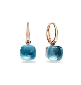 Pomellato Nudo Petit oorhangers met blauwe topaas