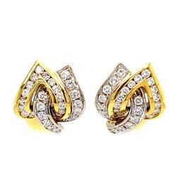 Leo Pizzo Leo Pizzo gouden oorbellen met diamant