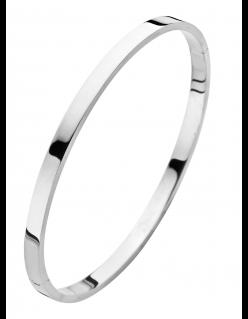 Fjory Fjory armband 5 mm. witgoud met zilveren kern