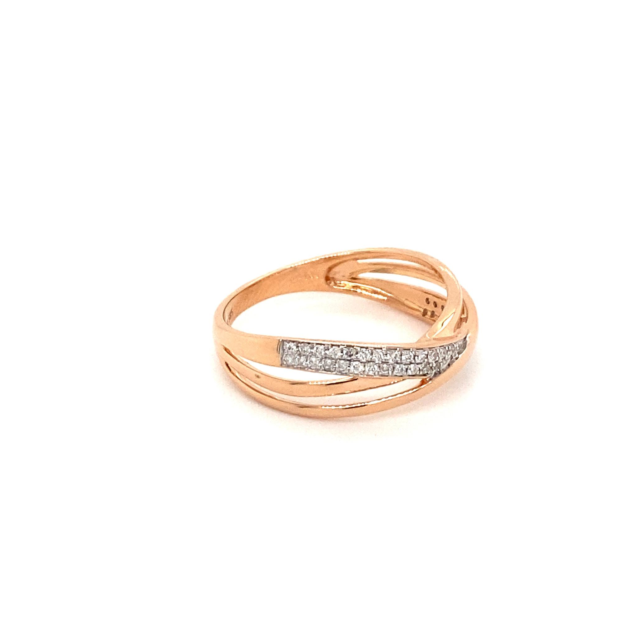 Private Label CvdK Private Label CvdK 14 krt. roségouden ring met diamanten