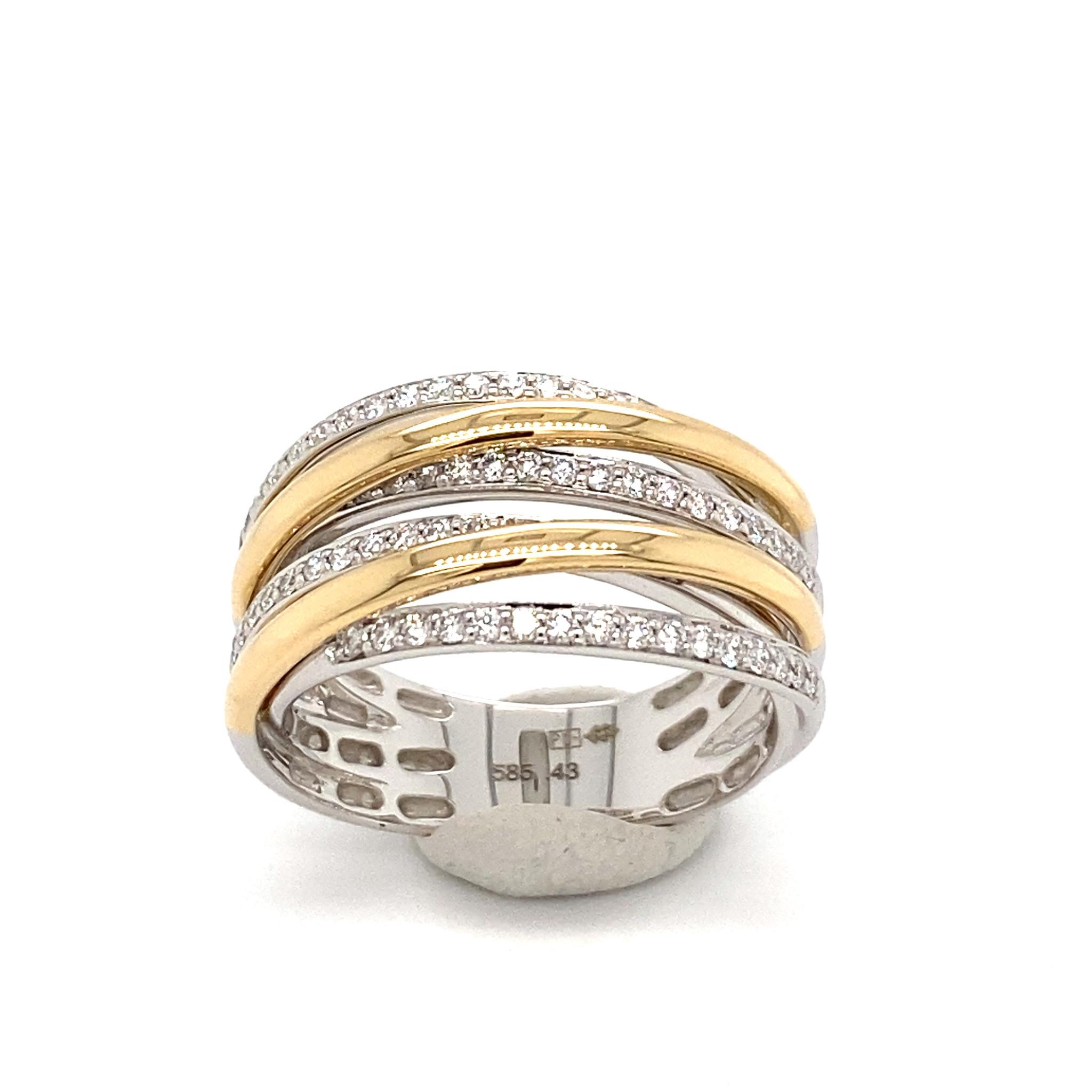 Private Label CvdK Private Label CvdK 14 krt. geel/witgouden ring met diamanten
