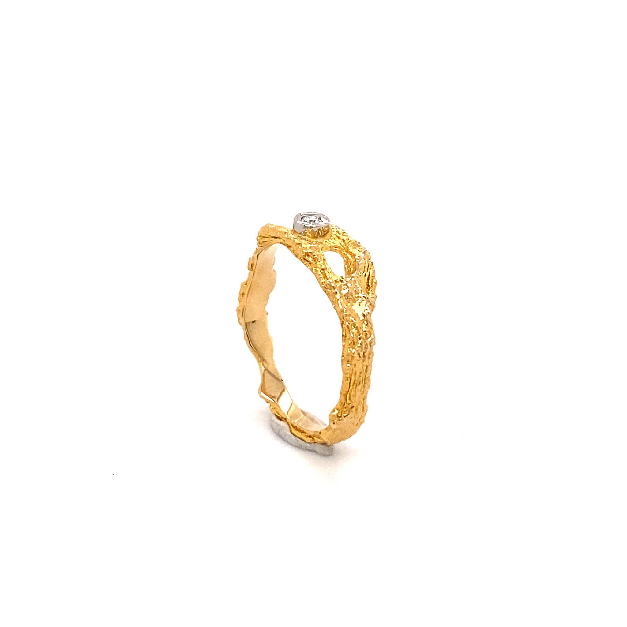 Lapponia Lapponia ring 14 krt. geelgoud diamant