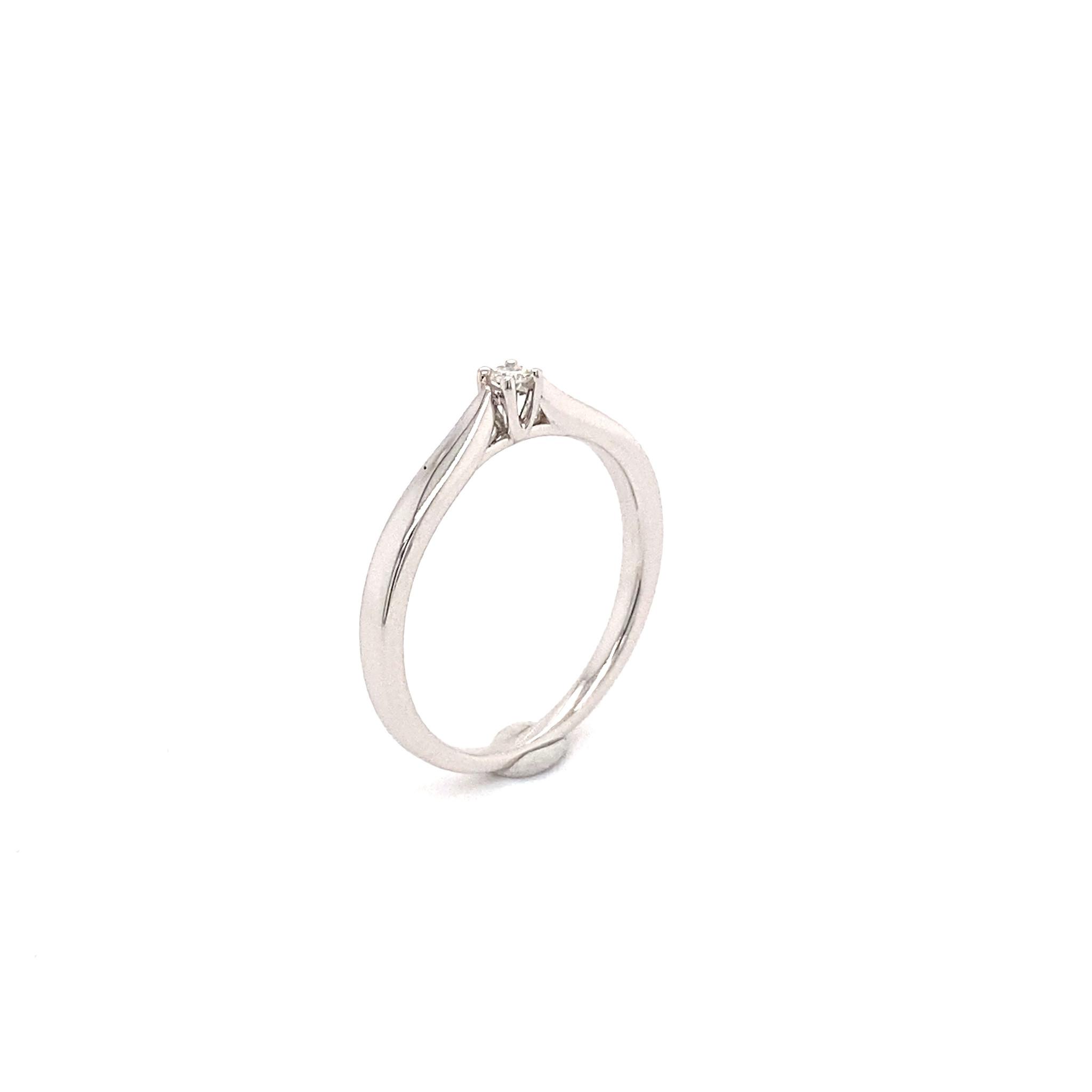 Private Label CvdK Private Label CvdK 14 krt. witgouden ring diamant