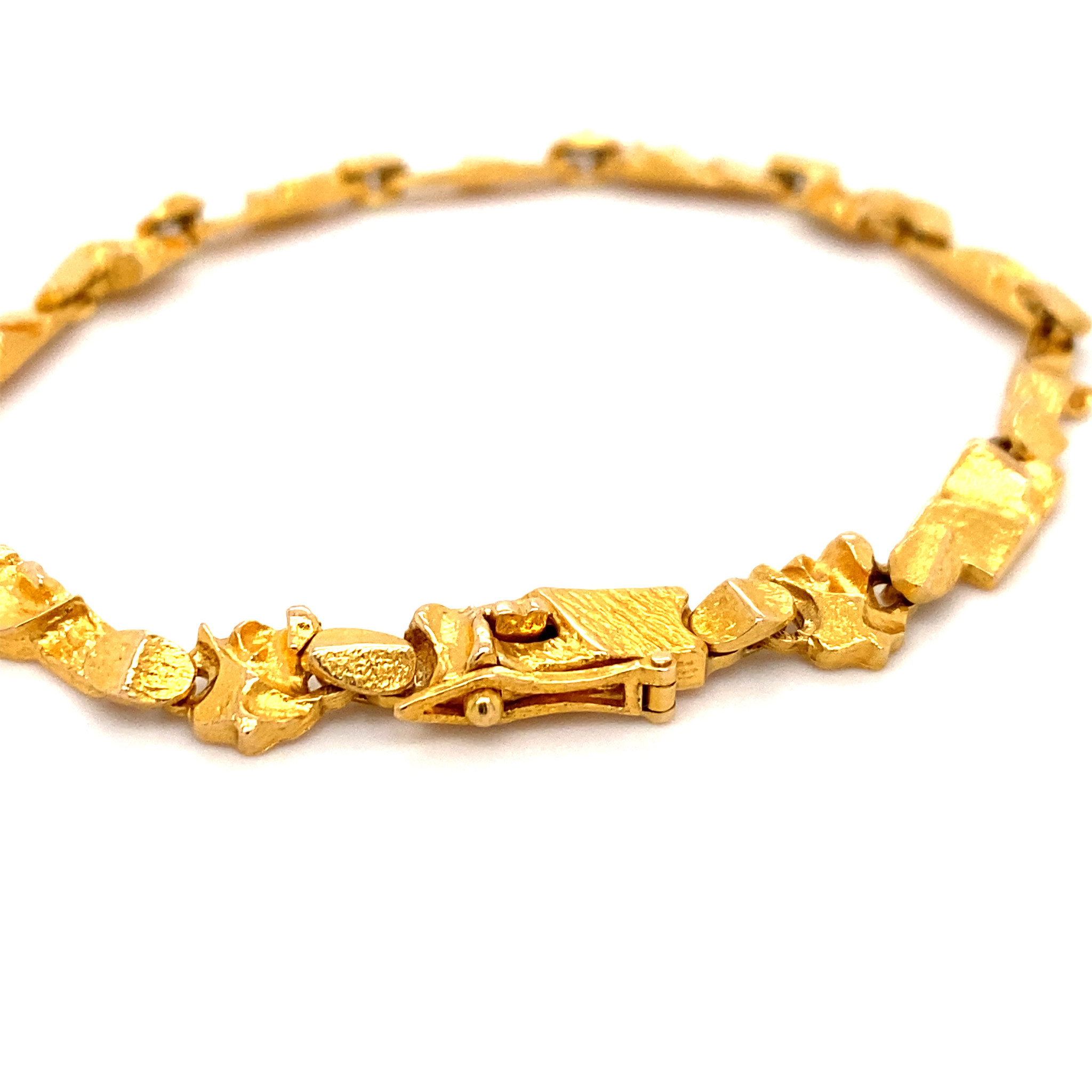 Lapponia Lapponia Tenochtitlan 14 krt. geelgouden armband 18,5 cm.