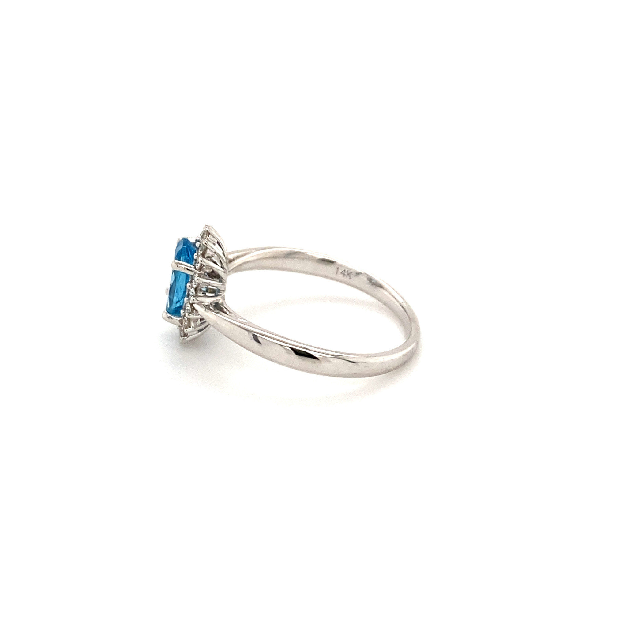 Private Label CvdK Private Label CvdK witgouden halo ring diamant/topaas - Copy