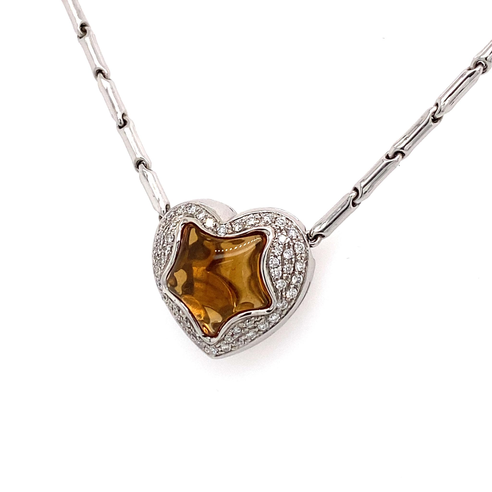 Private Label CvdK Private Label CvdK  collier citrien/diamanten