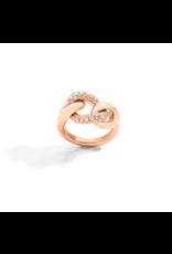 Pomellato Pomellato Tango Catene ring in 18 krt. roségoud met witte diamanten