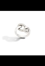 Pomellato Pomellato Tango Catene ring in 18 krt. witgoud met witte diamanten