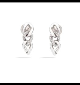 Pomellato Pomellato Tango oorhangers met witte diamanten
