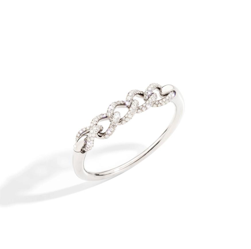 Pomellato Pomellato Tango Catene armband in 18 krt. witgoud met witte diamanten
