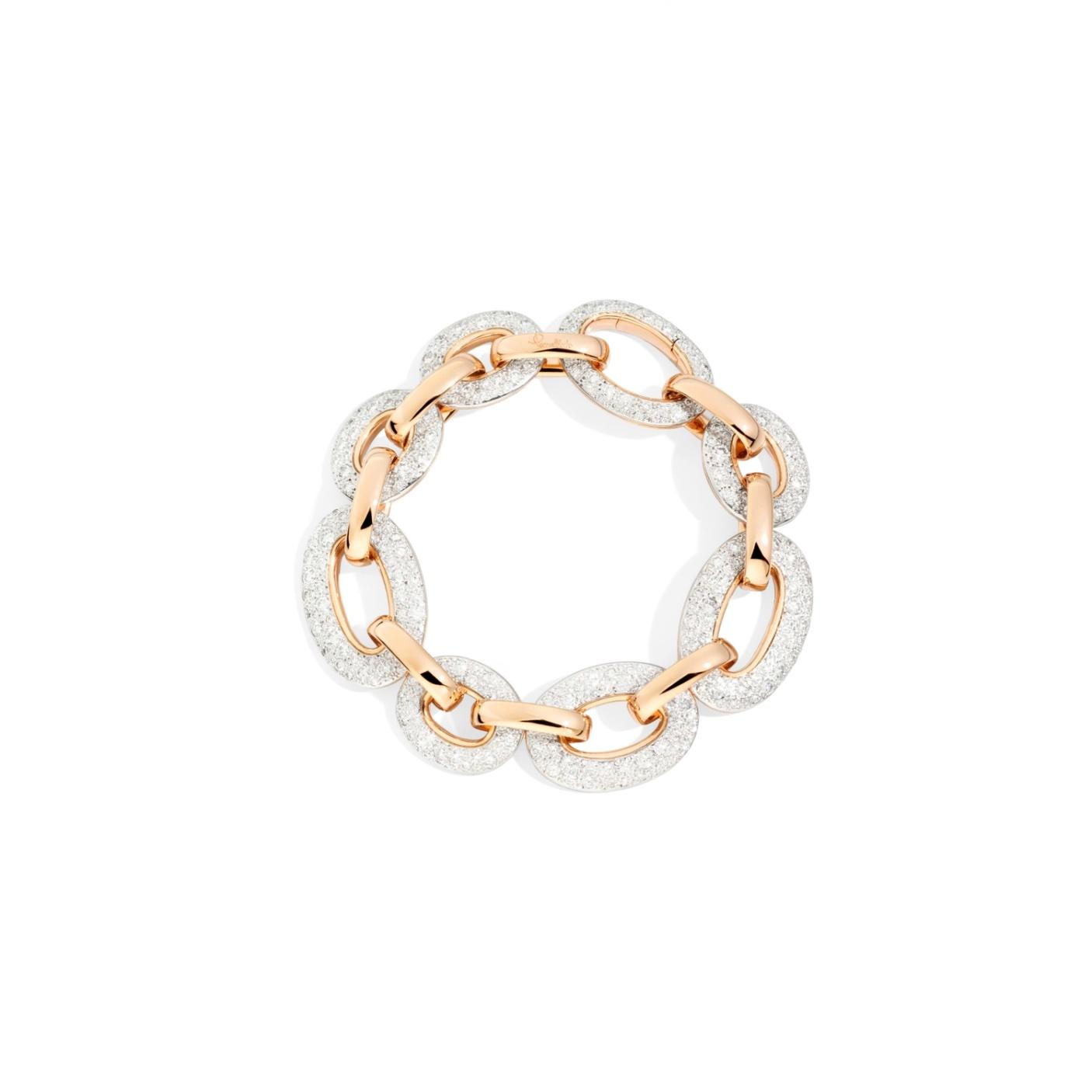 Pomellato Pomellato Tango Catene armband in 18 krt. roségoud met witte diamanten