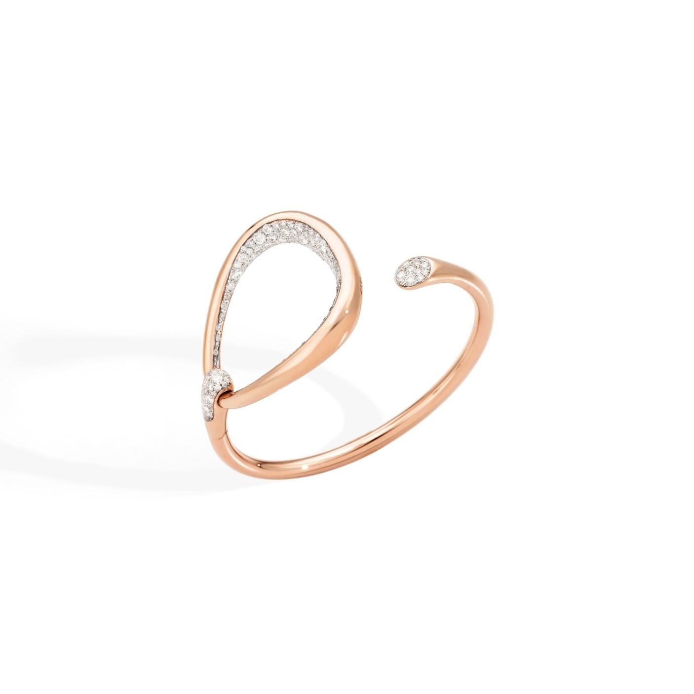 Pomellato Pomellato Fantina armband in 18 krt. roségoud met witte diamanten