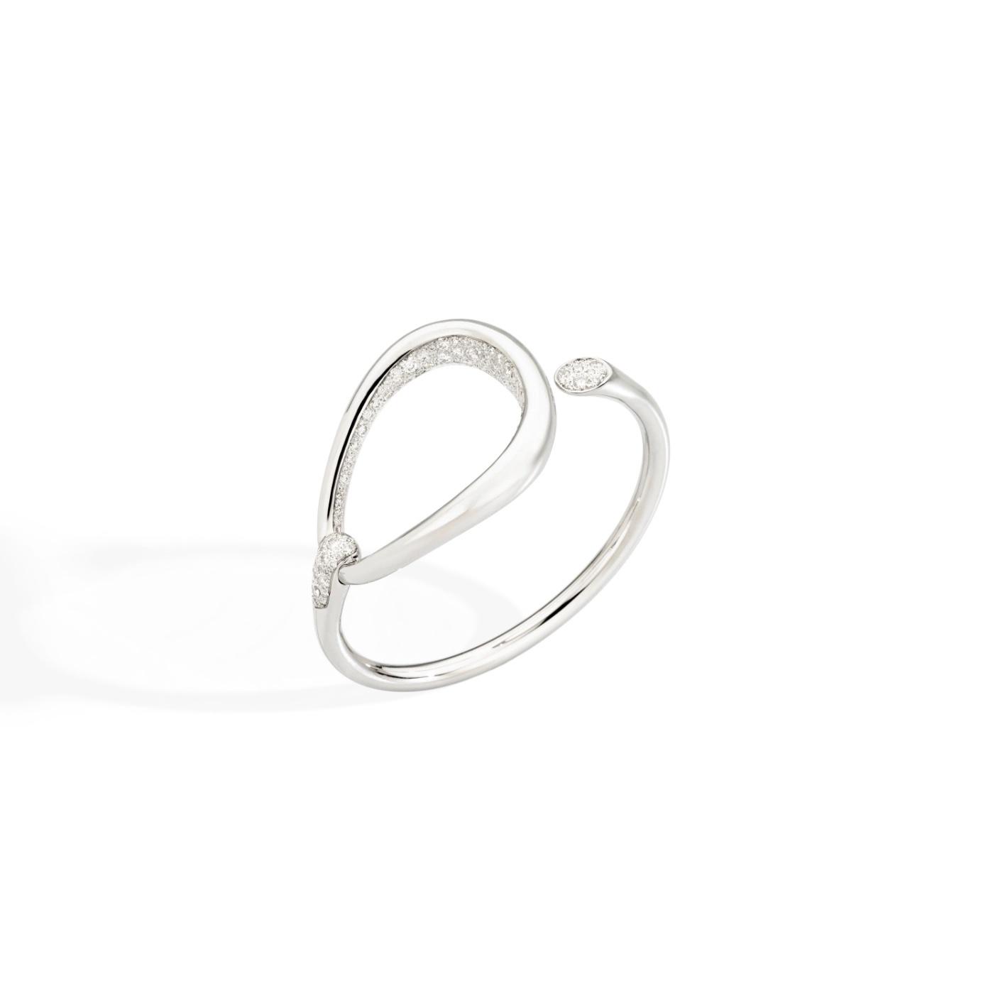 Pomellato Pomellato Fantina armband in 18 krt. witgoud met witte diamanten